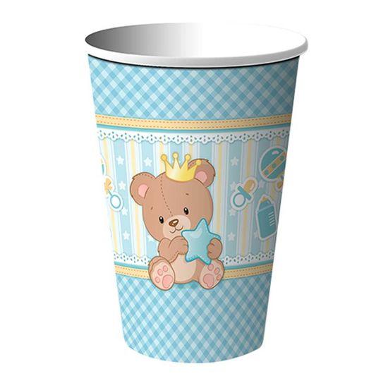 Copo de Papel Baby Ursinho Menino - 08 Un