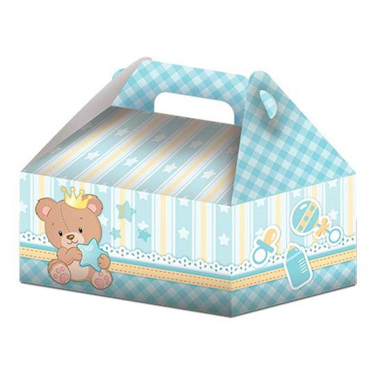 Caixa Surpresa Maleta Baby Ursinho Menino - 08 Un