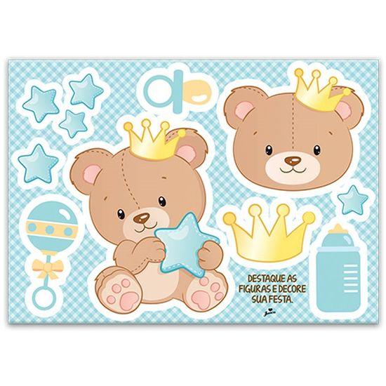 Painel Gigante Cartonado Baby Ursinho Menino
