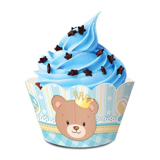 Forma para Cupcake Baby Ursinho Menino - 08 Un