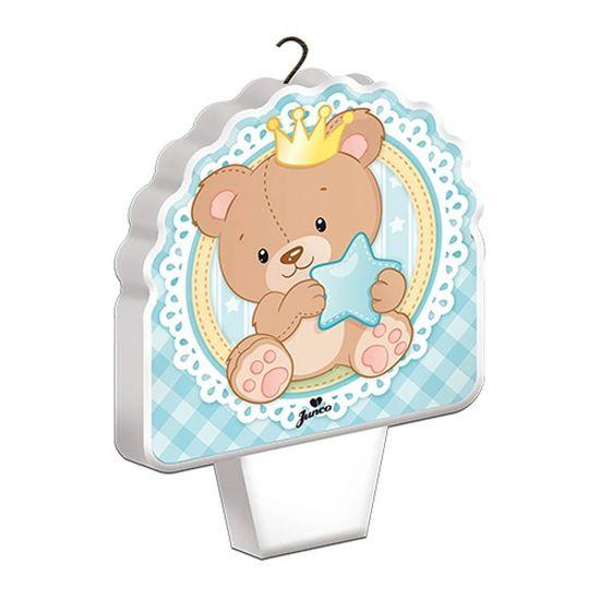 Vela Plana Baby Ursinho Menino