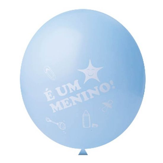 Balão É um Menino nº 11 (28cm) - 25 Un