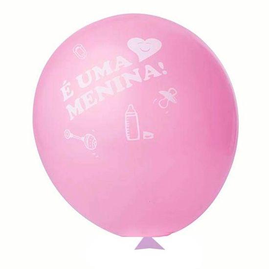 Balão É uma Menina nº 11 (28cm) - 25 Un