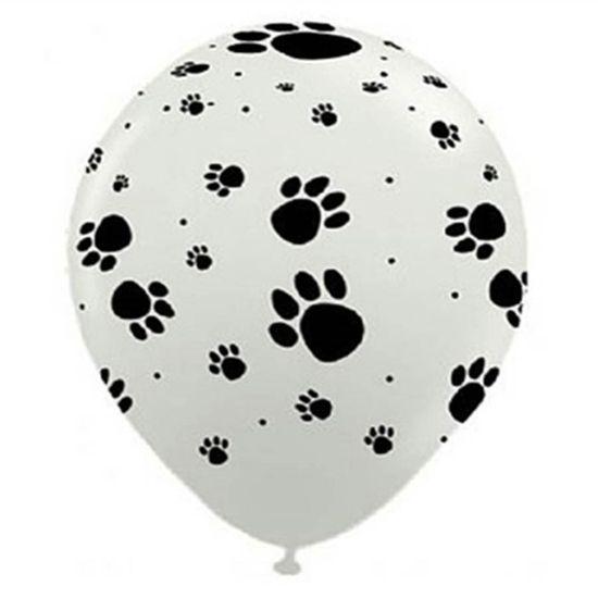 Balão Patinhas de Cachorro nº 11 (28cm) Branco - 25 Un