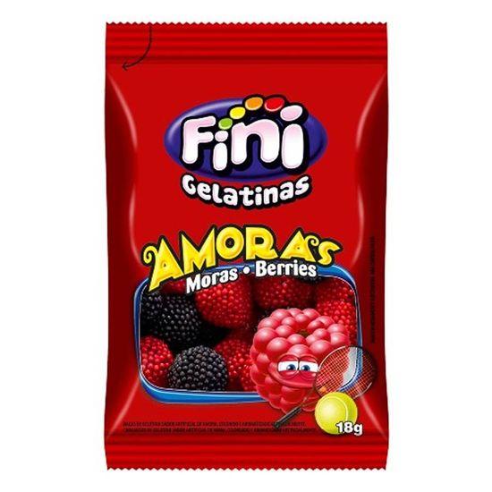Pacote Bala de Gelatina Amoras Fini 15g - 12 Un