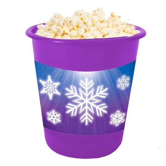 Festa Frozen Disney - Adesivo para Balde de Pipoca 12x8cm Frozen - 03 Un