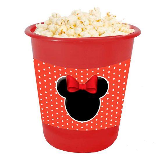Festa Minnie Vermelha - Adesivo para Balde de Pipoca 12x8cm Minnie Vermelha - 03 Un