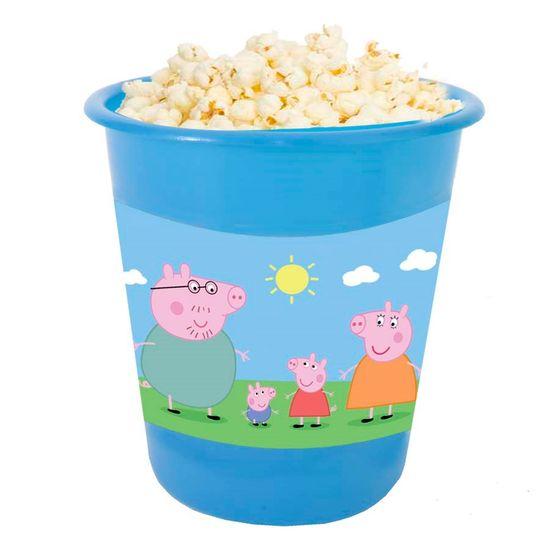 Festa Peppa Pig - Adesivo para Balde de Pipoca 12x8cm Peppa Pig - 03 Un