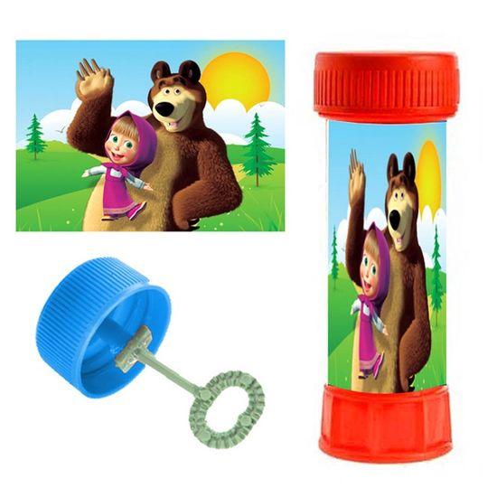 Festa Masha e o Urso - Adesivo Especial para Bolinha de Sabão Masha e o Urso - 06 Un