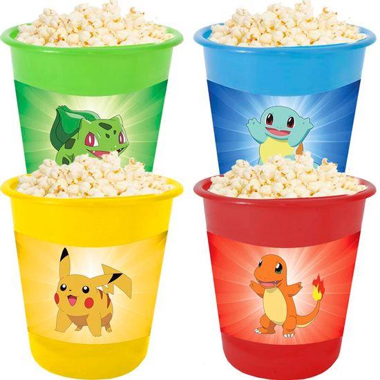 Festa Pokémon - Adesivo para Balde de Pipoca 12x8cm Pokémon Bichinhos - 04 Un