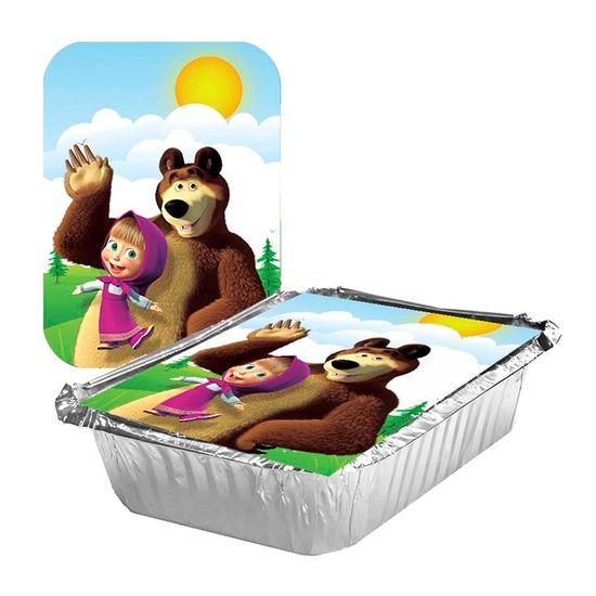 Festa Masha e o Urso - Adesivo para Marmita Pequena 220ml Masha e o Urso - 05 Un