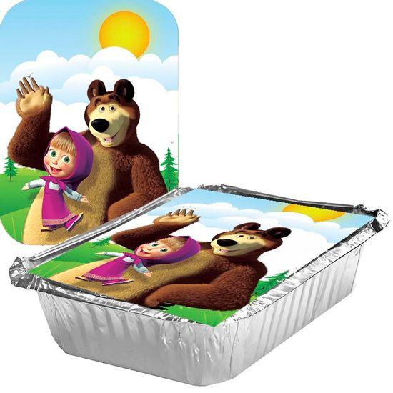 Festa Masha e o Urso - Adesivo para Marmita Grande 500ml Masha e o Urso - 05 Un