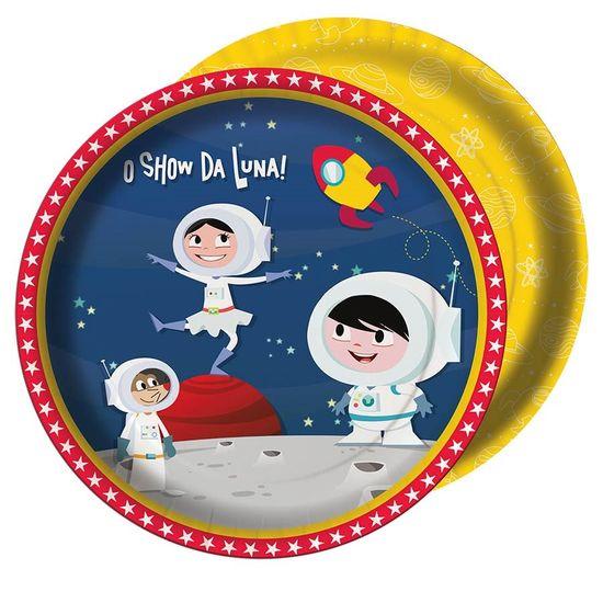 Festa Astronauta - Prato Descartável Astronauta Show da Luna - 08 Un