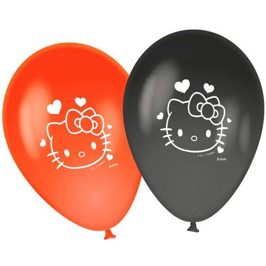 Festa Hello Kitty - Balão para Vareta Hello Kitty Poá - 25 Un