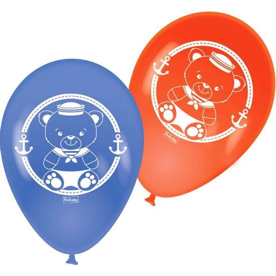 Festa Ursinho Marinheiro - Balão para Vareta Navy Ursinho Marinheiro - 25 Un
