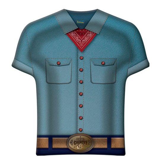 Prato Camisa Festa Country - 08 Un