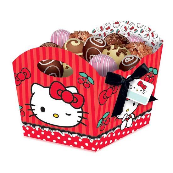 Festa Hello Kitty - Cachepô Hello Kitty Poá - 08 Un