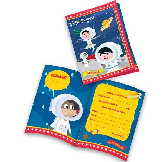 Festa Astronauta - Convite de Aniversário Astronauta Show da Luna - 08 Un