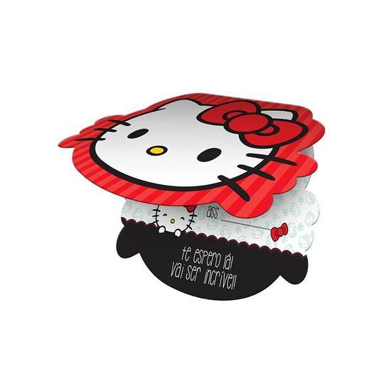 Festa Hello Kitty - Convite de Aniversário Hello Kitty Poá - 08 Un