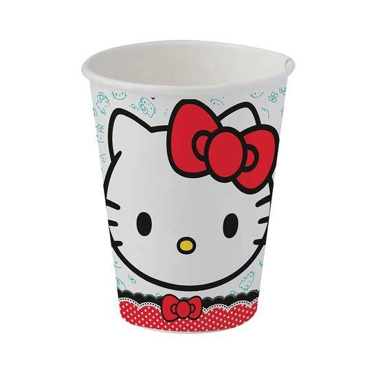 Festa Hello Kitty - Copo de Papel Hello Kitty Poá - 08 Un