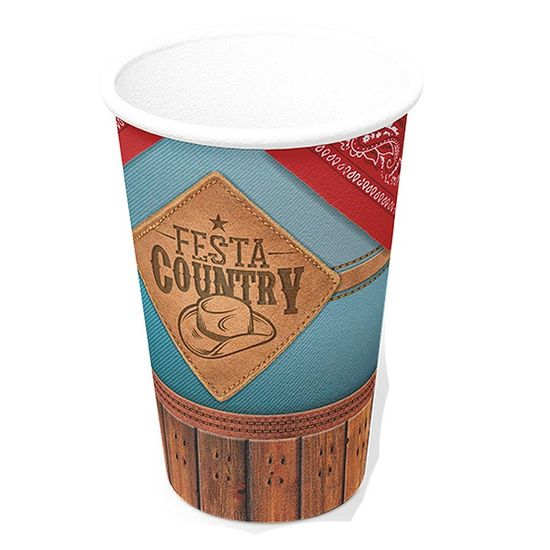 Copo de Papel 300ml Festa Country - 08 Un