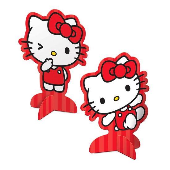 Festa Hello Kitty - Decoração de Mesa Cartonada Hello Kitty Poá - 08 Un