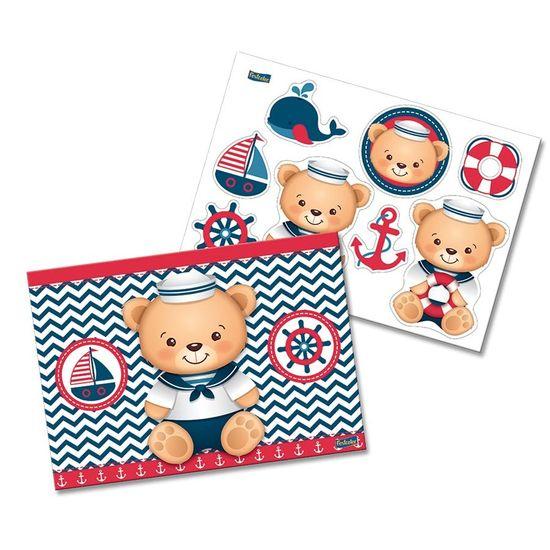 Festa Ursinho Marinheiro - Kit Decorativo Cartonado Navy Ursinho Marinheiro