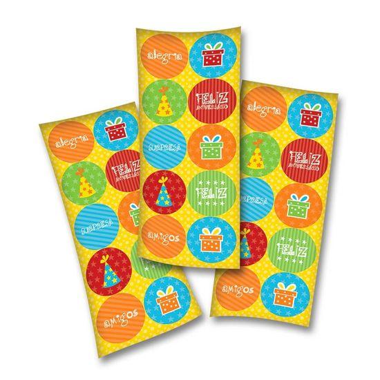 Adesivos Festa Feliz Aniversário - 03 cartelas