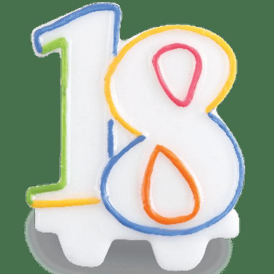 Vela Festcolor Número - 18 Anos
