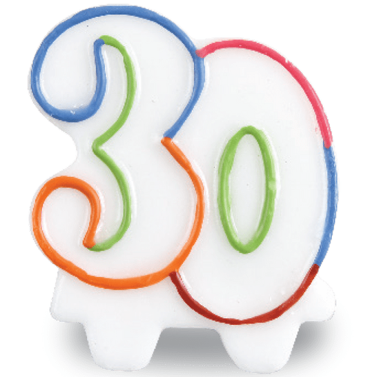 Vela Festcolor Número - 30 Anos