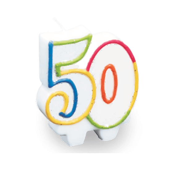 Vela Festcolor Número - 50 Anos