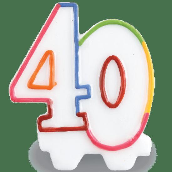 Vela Festcolor Número - 40 Anos