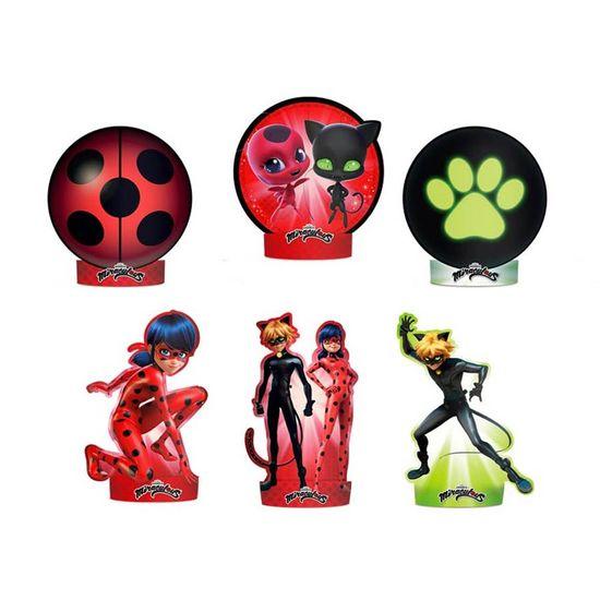 Festa Miraculous LadyBug - Decoração de Mesa Cartonada Miraculous Ladybug - 06 Un