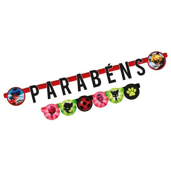 Festa Miraculous LadyBug - Faixa Parabéns Miraculous Ladybug