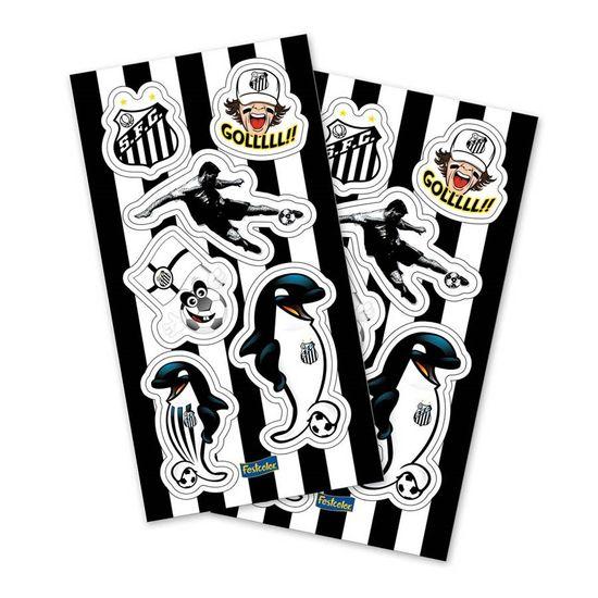 Festa Festa Santos FC - Adesivo Sortido Santos F.C. - 04 cartelas