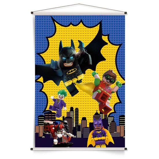 Festa Lego Batman - Banner Vertical Lego Batman - 72x109cm