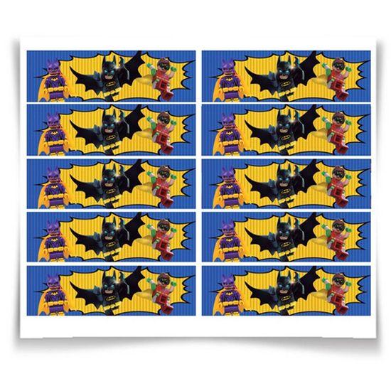 Festa Lego Batman - Adesivo Especial Retangular Lego Batman - 20 Un
