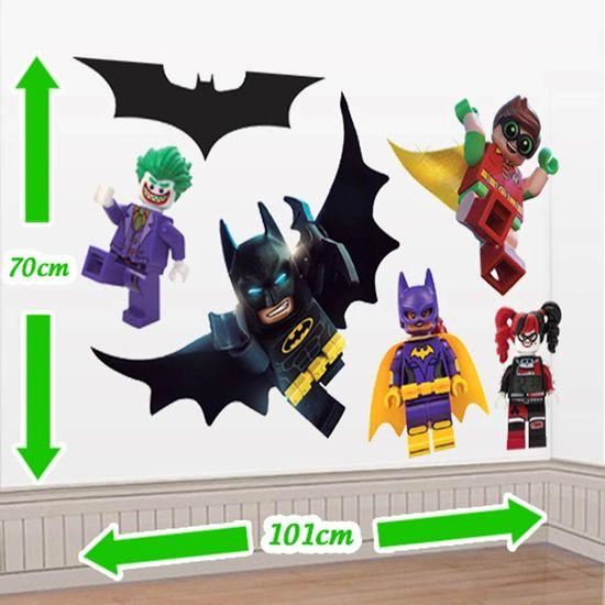 Festa Lego Batman - Cenário Adesivo Lego Batman - Personagens