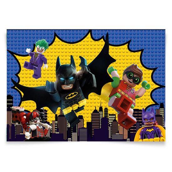Festa Lego Batman - Painel Horizontal Lego Batman - 106x75cm