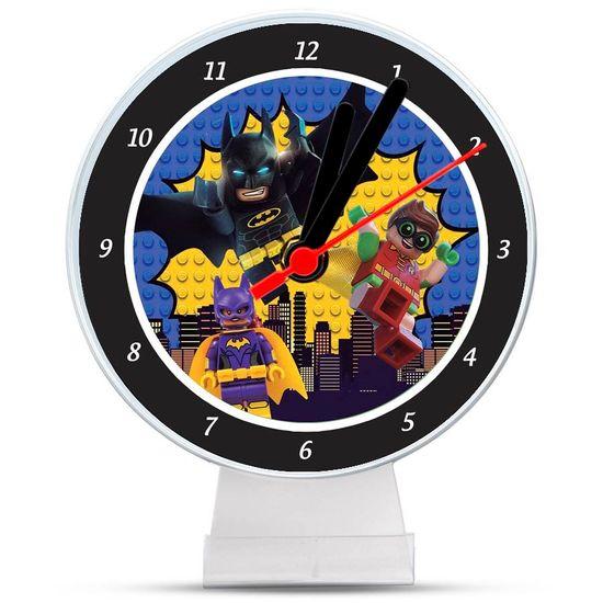 Festa Lego Batman - Lembrancinha/ Enfeite de Mesa Relógio Lego Batman