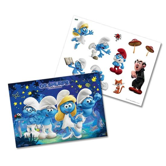 Kit Decorativo Cartonado Os Smurfs o Filme