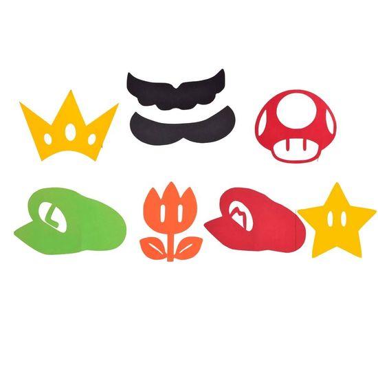 Festa Super Mário - Aplique Artesanal Super Mario Bros P - 15 Un