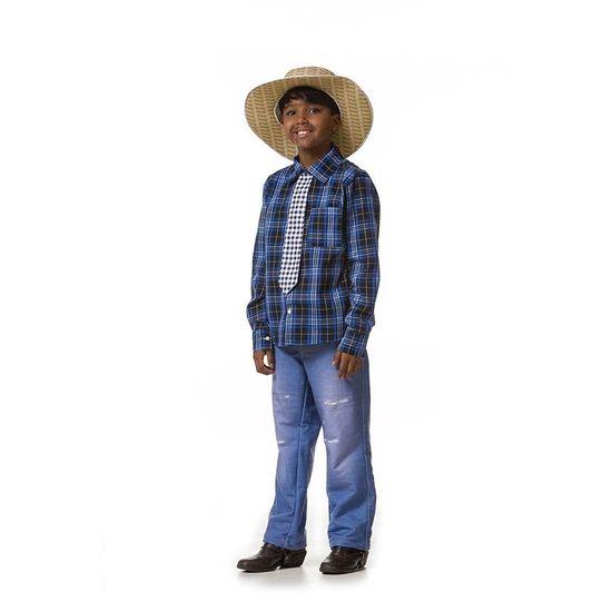 Fantasia Junina Infantil Camisa Tradicional Masculino GG