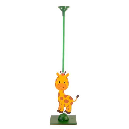 Enfeite de Mesa Porta Balão Zoológico - Girafa