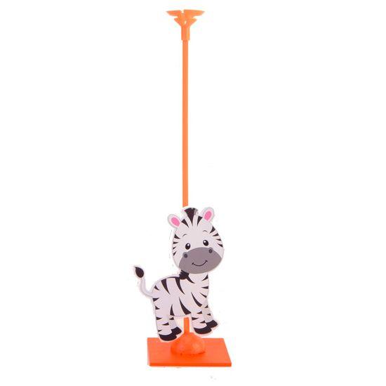Enfeite de Mesa Porta Balão Zoológico - Zebra