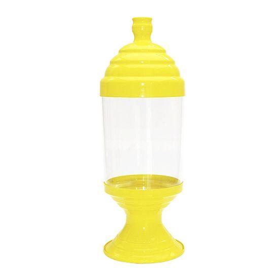 Pote de Acrílico Pequeno Amarelo