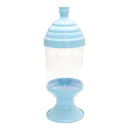 Pote de Acrílico Pequeno Azul Bebê
