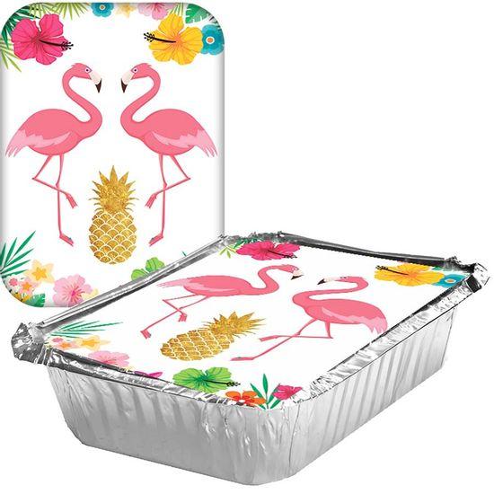 Adesivo para Marmita Grande 500ml Flamingo - 05 Un