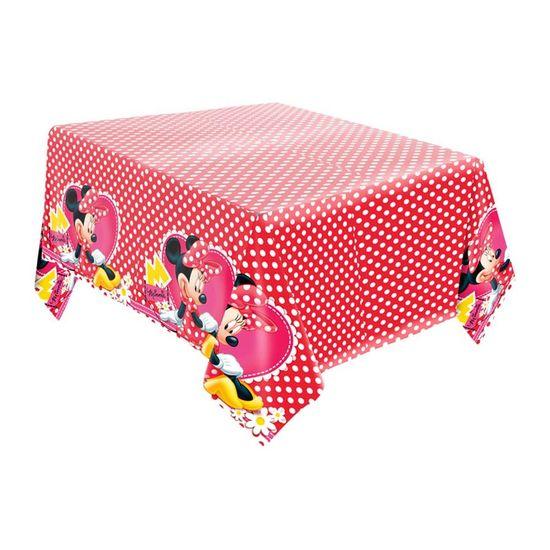 Festa Minnie Vermelha - Toalha de Mesa Principal Papel Minnie Vermelha