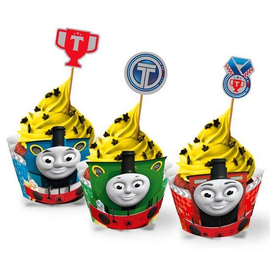 Forma para Cupcake e Enfeite Thomas e Amigos - 12 Un